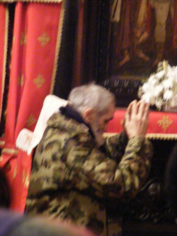 Cuviosul Gherontie in rugaciune